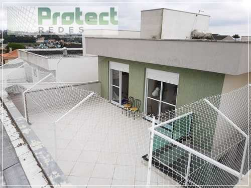 Colocação de rede de proteção